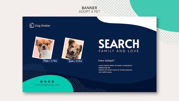 Przyjmij szablon banera dla zwierząt domowych
