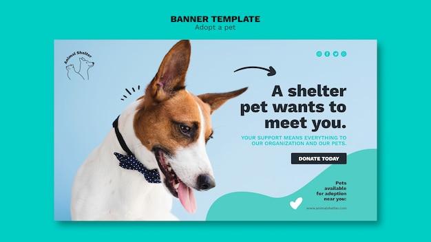 Przyjmij szablon projektu banera dla zwierząt domowych