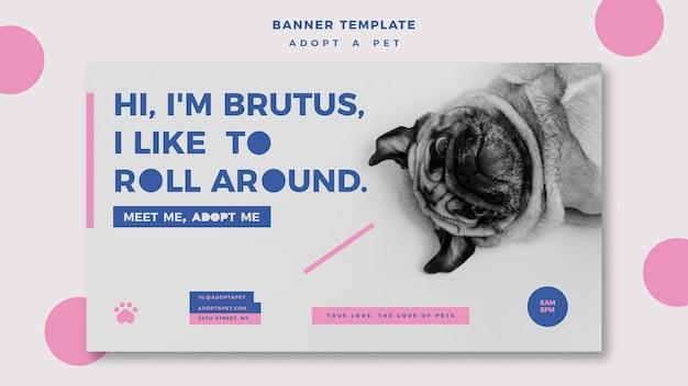 Przyjmij szablon transparentu koncepcji zwierzaka