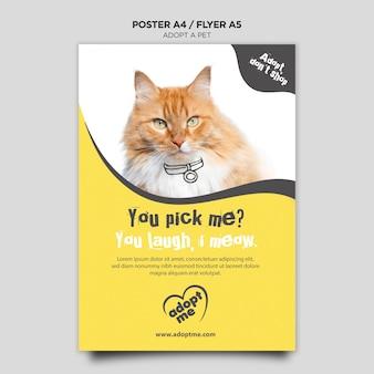 Przyjmij szablon ulotki kota