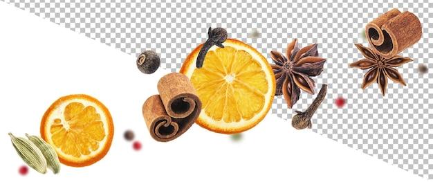 Przyprawy aromatyczne na białym tle
