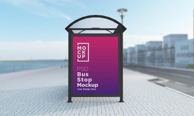 Przystanek autobusowy schronisko autobusowe znak makieta renderowania 3d