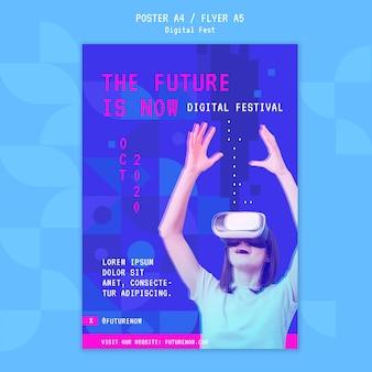 Przyszłość to teraz szablon plakatu