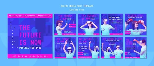 Przyszłość to teraz szablon postów w mediach społecznościowych