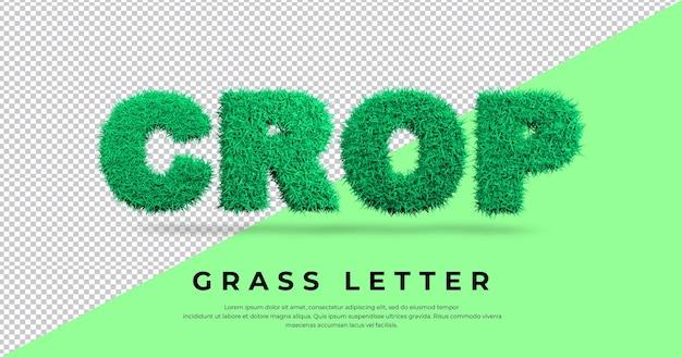 Przytnij szablon efektu litery trawy