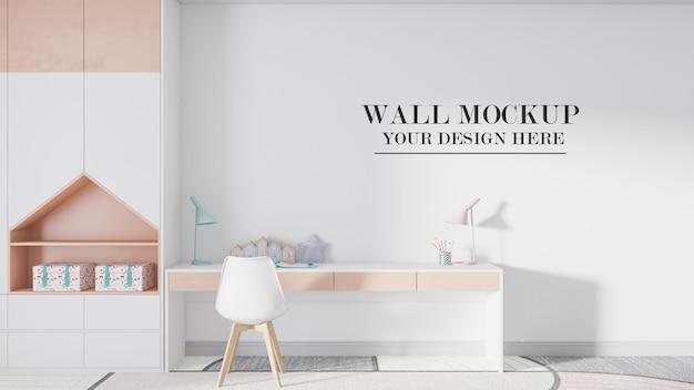 Przytulna ściana makiety pokoju dziecięcego