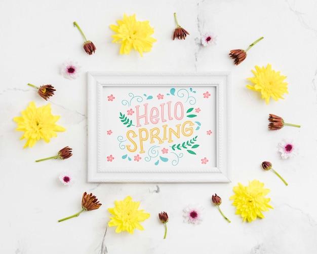 Przywitaj wiosnę koncepcja ramy