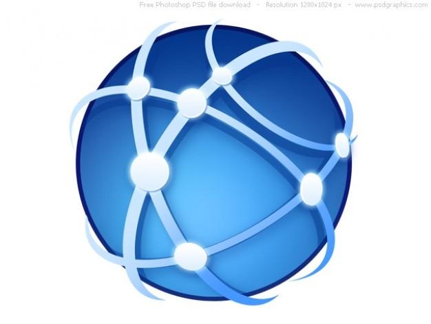 Psd globalnej komunikacji ikonę