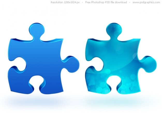 Psd ikonę puzzle