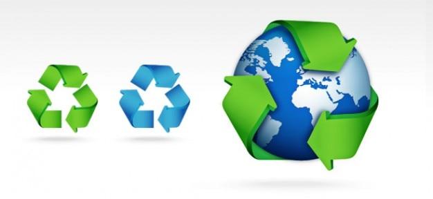 Psd recycle zestaw ikon