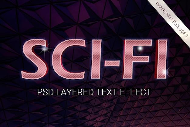 Psd science fiction futurystyczny efekt warstwowy z lat 80