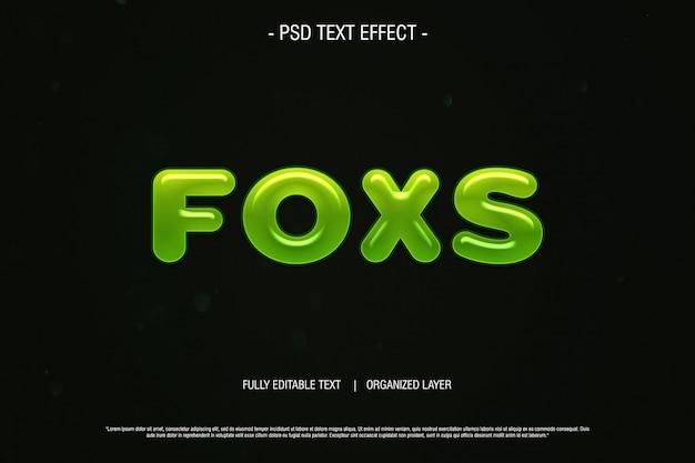 Psd text efekt lisy