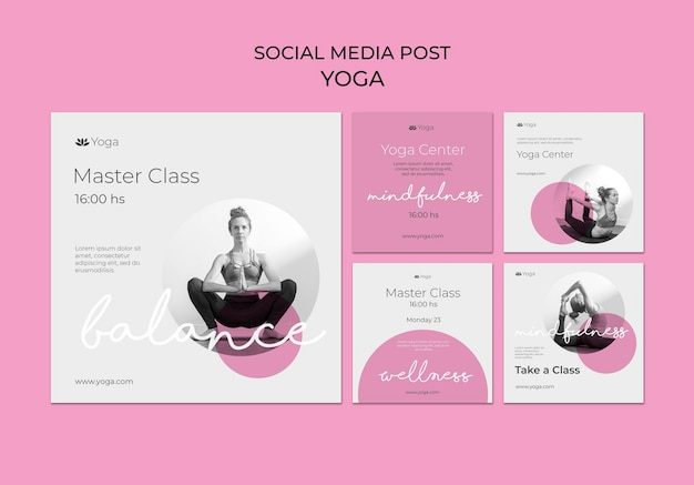 Publikacja w mediach społecznościowych na zajęciach jogi