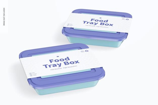 Pudełka na tace na żywność z makietą pokrywki, perspektywa