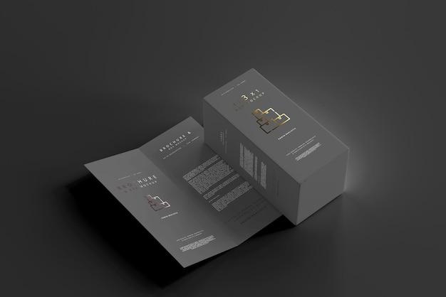 Pudełko z makietą broszury bifold