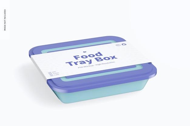 Pudełko z tacą na żywność z makietą pokrywki