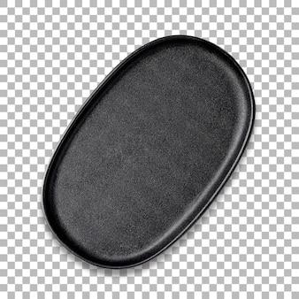 Pusta owalna patelnia do pieczenia lub pieczenia, na białym tle na przezroczystość.
