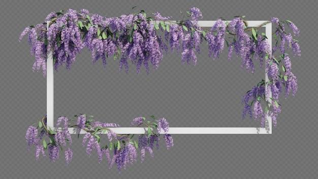 Pusta prostokątna ramka z pełzającym drzewem wianek królowej