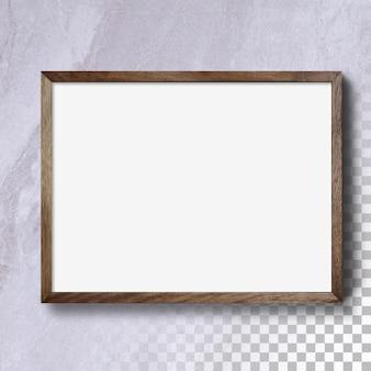 Pusta ramka na białym tle horyzontu na ścianie