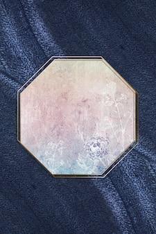 Pusta ramka w kształcie ośmiokąta w kwiaty