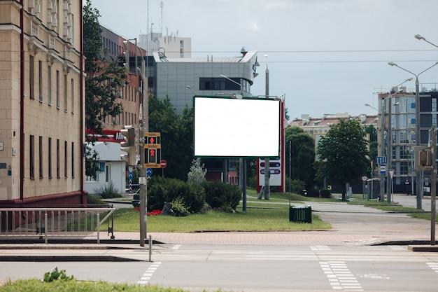 Pusty billboard w mieście