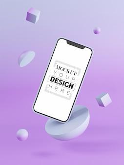 Pusty ekran inteligentny telefon makieta komputera na nowoczesnym tle