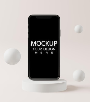 Pusty ekran makieta smartfona