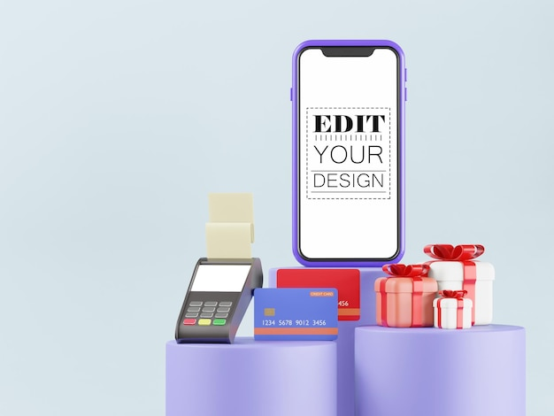 Pusty ekran smartphone makieta