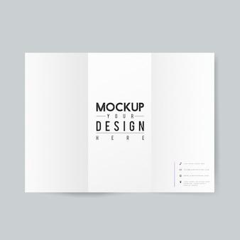 Pusty papier broszura szablon makieta