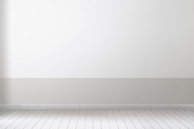 Pusty pokój makieta ścienna psd minimalistyczny wystrój wnętrz
