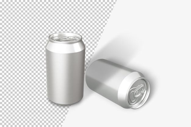 Puszki na renderowaniu na białym tle