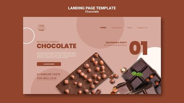 Pyszna czekoladowa strona docelowa