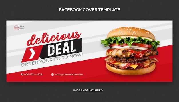 Pyszna oferta dla mediów społecznościowych i szablonu okładki na facebooku
