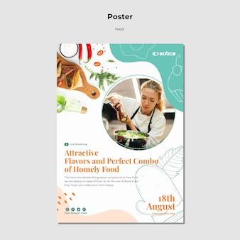 Pyszny szablon plakatu z jedzeniem