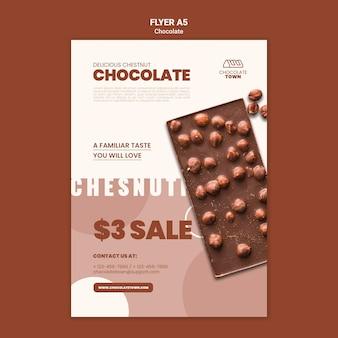 Pyszny szablon ulotki czekoladowej