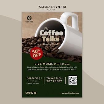 Pyszny szablon ulotki kawy