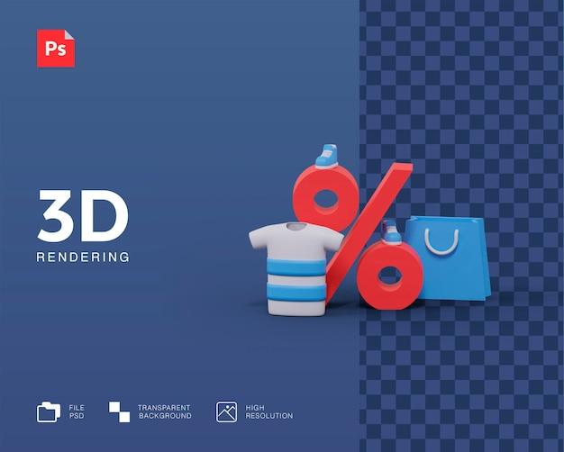 Rabat na zakupy ilustracja 3d