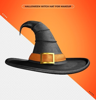 Rajskie kostiumy 3d kapelusz z pomarańczowym nadrukiem na halloweenową czarownicę