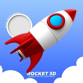 Rakieta kosmiczna 3d