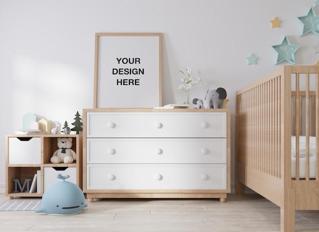 Rama plakatowa makieta w pokoju dziecięcym