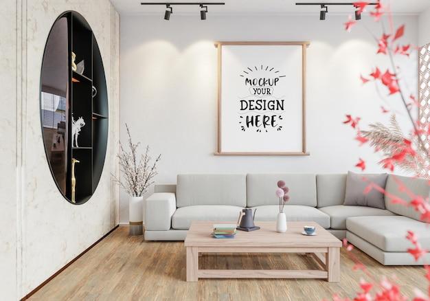 Rama plakatowa w pokoju makieta