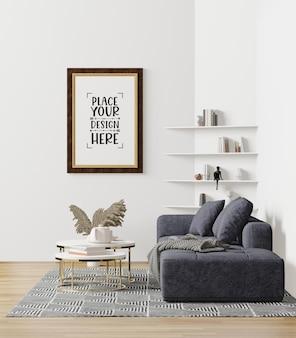 Rama plakatowa w salonie psd mockup