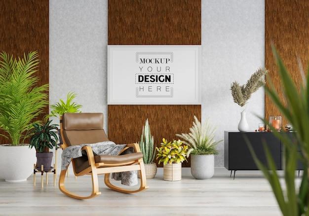 Rama plakatowa w salonie