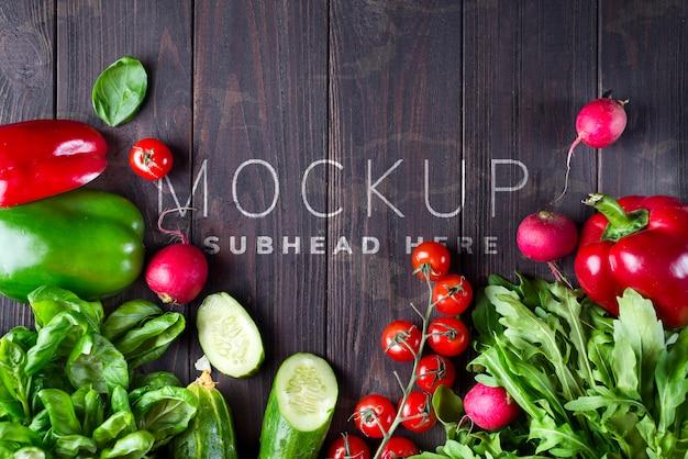 Rama różnych warzyw zdrowotnych