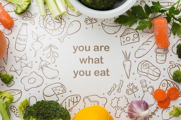 Rama warzyw z makiety