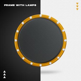 Rama z lampą w renderowaniu 3d na białym tle