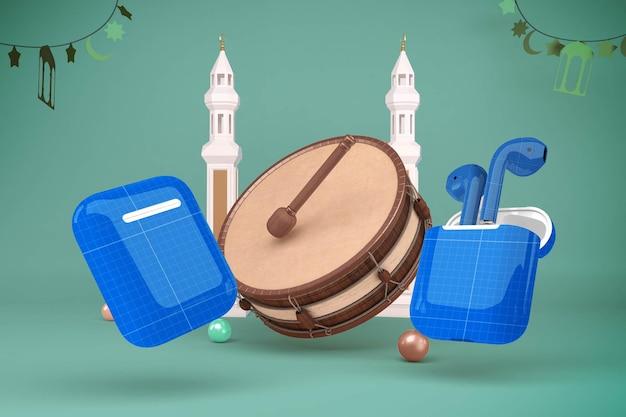 Ramadan headphones mockup