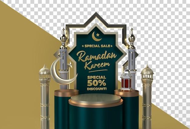 Ramadan kareem eid mubarak 3d islamski projekt uroczystości