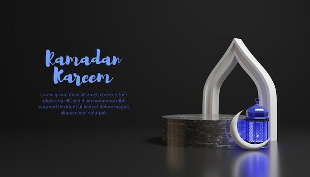 Ramadan kareem tło z szablonem tekstowym