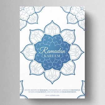 Ramadan kareem ulotka szablon